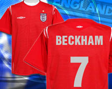 your name & number printed on football shirts