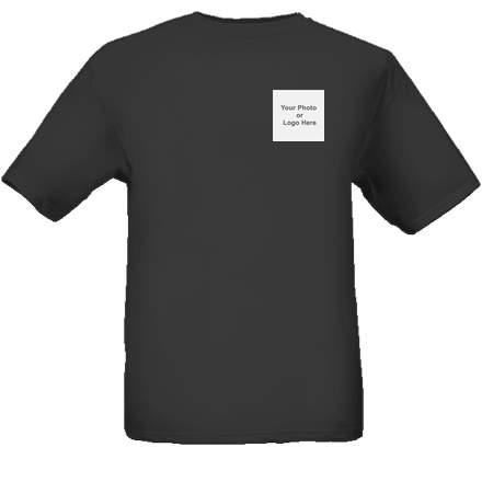 photos printed on black t-shirts