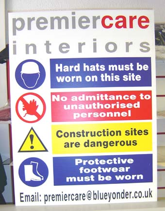 safety signs 24 inch x 32 inch corex